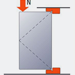 Mechanical resistance to a vertical angular load