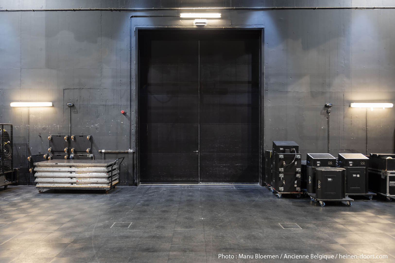 Acoustically insulated double door
